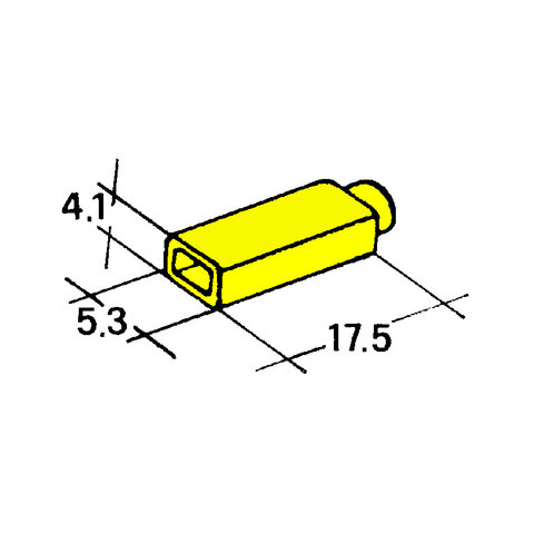 Kryt dutinky 2,8mm žlutý