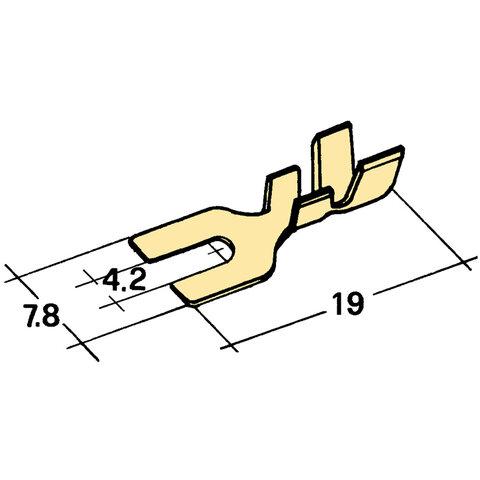 Kabelové vidlička Ø 4,2mm