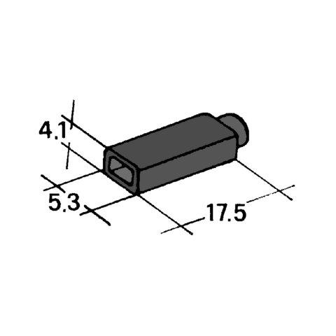 Kryt dutinky 2,8mm černý