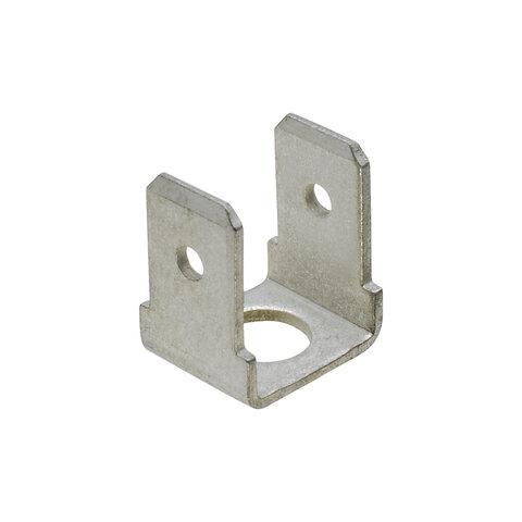 Nýtovací konektor 6,3mm - dvojitý 90°