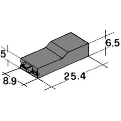 Kryt dutinky 6,3mm černý