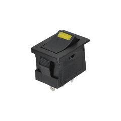 Kolébkový spínač obdelníkový s LED žlutá