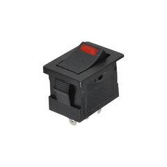Kolébkový spínač obdelníkový s LED rudá