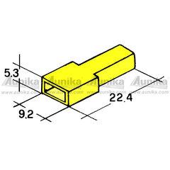Kryt dutinky 6,3mm žlutý
