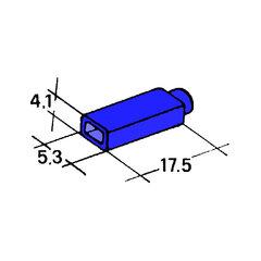 Kryt dutinky 2,8mm modrý